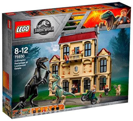Lego Jurassic Нападение индораптора в поместье Локвуд Лего Мир Юрского периода