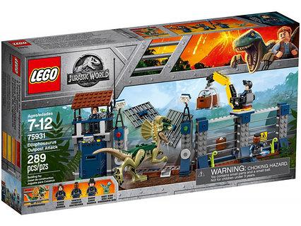Lego Jurassic Нападение дилофозавра на сторожевой пост Лего Мир Юрского периода