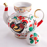 Чайник заварочный Петушки. Императорский фарфор, Санкт-Петербург, фото 2