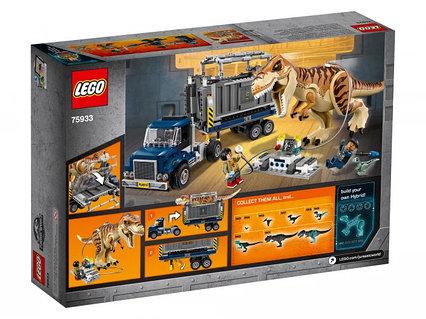 Lego Jurassic Транспорт для перевозки Ти-Рекса Лего Мир Юрского периода