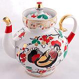 Чайник заварочный Петушки. Императорский фарфор, Санкт-Петербург, фото 4