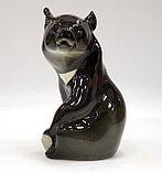 Фарфоровая статуэтка Медведь гималайский. Императорский фарфор, фото 2