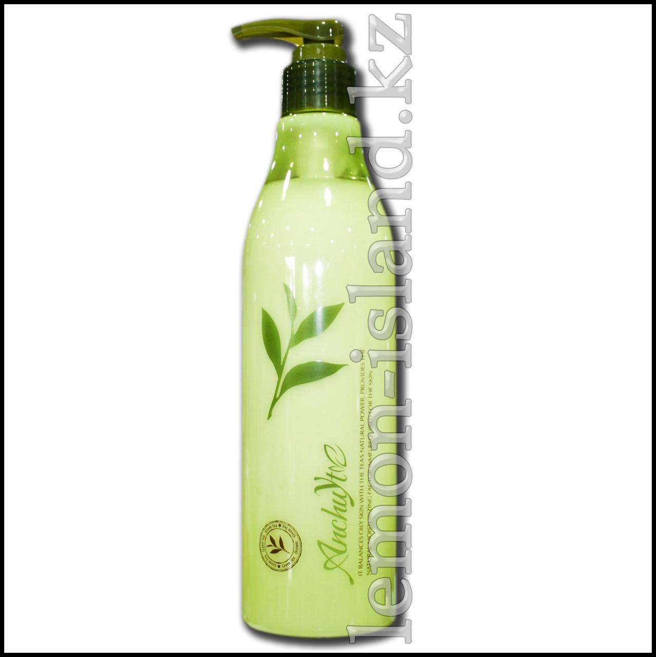Молочко для тела увлажняющее с экстрактом зелёного чая.
