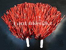 Помпоны для чирлидинга большие (красные)