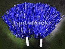 Помпоны для чирлидинга большие (синие)
