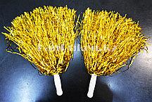 Помпоны для чирлидинга маленькие (золотые)