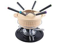 6350 FISSMAN Набор для приготовления сырного фондю CHEESE 12 пр. (керамика)