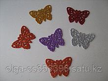 Бабочки глиттерные. Фоамиран.   5 * 3 см. Creativ 2107