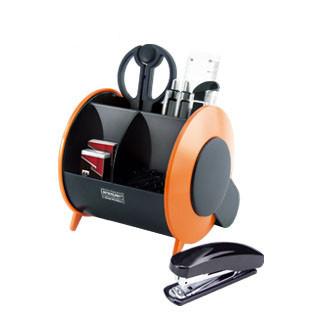 Набор настольный 11 предметов, пластик, оранжевый/черный O-Life