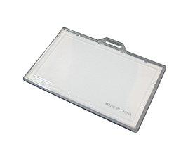 Бейдж горизонтальный, 60x93мм, без зажима, жесткий, прозрачный Bindermax