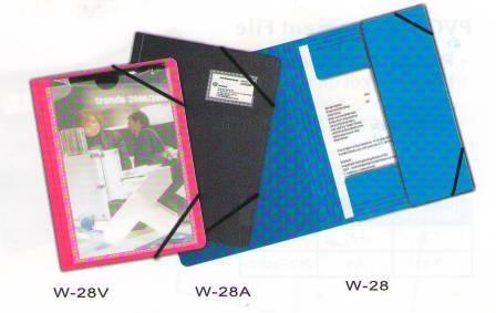 Папка с резинкой А4, 0,50мм, с кармашком, синяя Bindermax