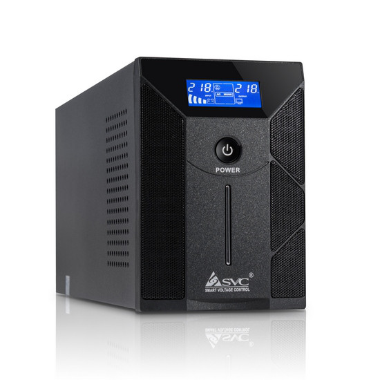 UPS, SVC, W-600, Smart, USB, Диапазон работы AVR: 165-275В, Бат.: 12В/12 Ач*1шт., 2 вых.: Shuko CEE7