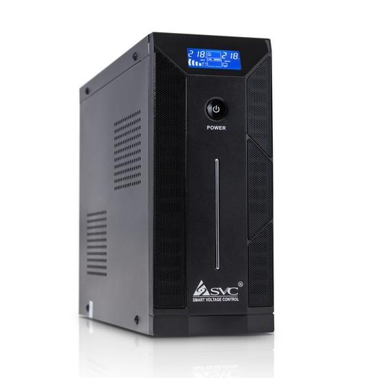 UPS, SVC, W-1000L, Smart, USB, Диапазон работы AVR: 165-275В, Бат.: 12В/12 Ач*1шт., 2 вых.: Shuko CE