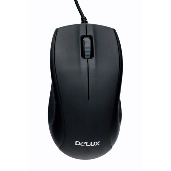 Мышь, Delux, DLM-375OUB, Оптическая, 800dpi, USB, Длина кабеля 1.6 метра, Размер:109.6*60.5*37.5 мм.