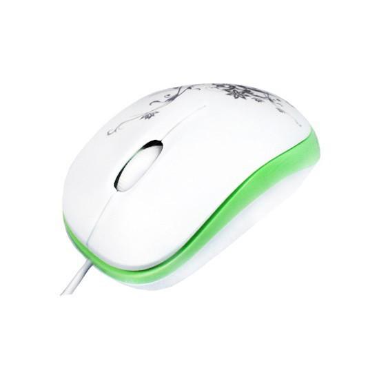 Мышь, Delux, DLM-100OUG, 3D, Оптическая 800dpi, USB, Длина кабеля 0,6 метра, Размер: 85*50*30мм., Бе