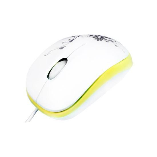 Мышь, Delux, DLM-100OUO, 3D, Оптическая 800dpi, USB, Длина кабеля 0,6 метра, Размер: 85*50*30мм., Бе