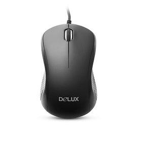 Мышь, Delux, DLM-391OUB, 3D, Оптическая, 800dpi, USB, Длина кабеля 1,6 метра, Размер: 111,6*61,95*39