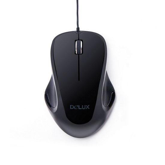 Мышь, Delux, DLM-389OUB, 3D, Оптическая.1000dpi, USB, Длина кабеля 1,6 метра, Размер: 113,4*74,9*40,