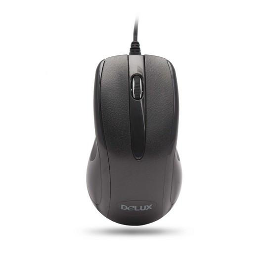 Мышь, Delux, DLM-395OUB, 3D, Оптическая, 1000dpi, USB, Длина кабеля 1,6 метра, Размер:115,2*65,3*38,