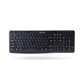 Клавиатура, Delux, DLK-06GB, Ультратонкая, Беспроводная 2.4ГГц, Кол-во стандартных клавиш 103, 11 му