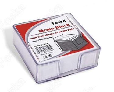 Бумага для записей 75х75х45мм, 500л, белая рассыпная Foska