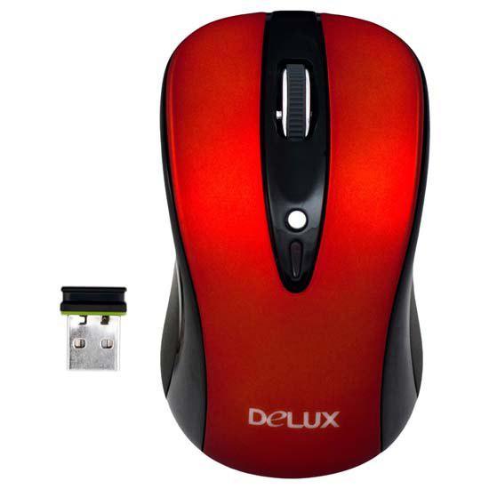 Мышь, Delux, DLM-483LGR, 3D, Лазерная, 800-1200dpi, Беcпроводная 2.4ГГц, Нано-ресивер, Эффективная д