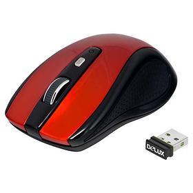 Мышь, Delux, DLM-486LGR, 3D, Лазерная, 800-1200dpi, Беcпроводная 2.4ГГц, Эффективная дистанция 10 м.