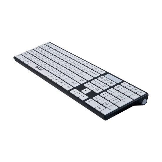 Клавиатура, Delux, DLK-1000UA, Ультратонкая, USB, Кол-во стандартных клавиш 104, 5 мультимедиа-клави