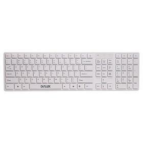 Клавиатура, Delux, DLK-1000UW, Ультратонкая, USB, Кол-во стандартных клавиш 104, 5 мультимедиа-клави