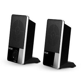 Колонки, Delux, DLS-2011UB, 2.0, RMS 0.8W*2, Интерфейс Jack 3.5mm, Питание от USB, Чёрный, Дизайн по