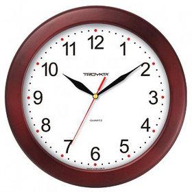 Часы d=300мм, круглые, белые, деревянный корпус, минеральное стекло Часпром