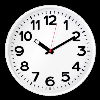 Часы d=305мм, круглые, белые, минеральное стекло Часпром