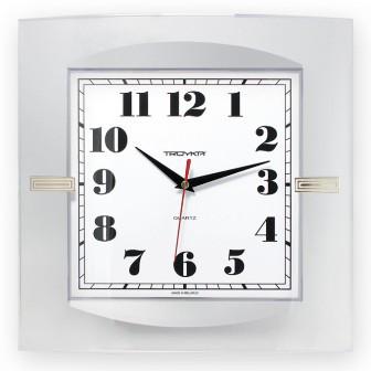 Часы d=320х320мм, квадратные, белые, минеральное стекло Часпром