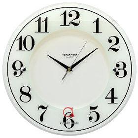 Часы d=345мм, круглые, белые, минеральное стекло Часпром