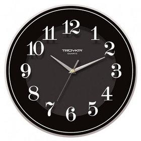 Часы d=345мм, круглые, черные, минеральное стекло Часпром