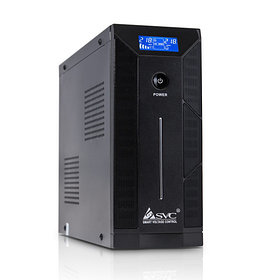 UPS, SVC, W-1500, Smart, USB, Диапазон работы AVR: 165-275В, 12В/9 Ач*2шт., 3 вых.: Shuko CEE7, Защи