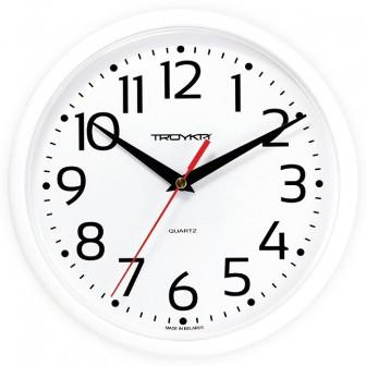 Часы d=230мм, круглые, белые, пластиковое стекло Часпром