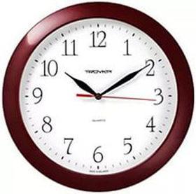 Часы d=290мм, круглые, белые, бородовый корпус, минеральное стекло Часпром