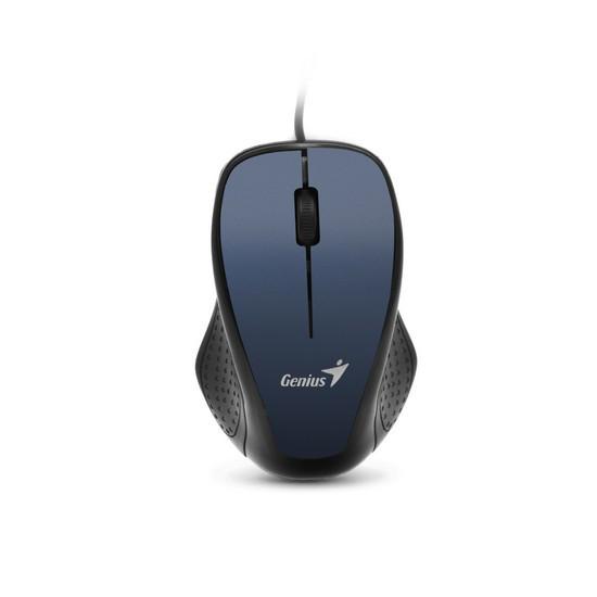 Мышь, Genius, Ergo 330, 3D, Оптическая 800dpi, USB, Чёрно-Синий