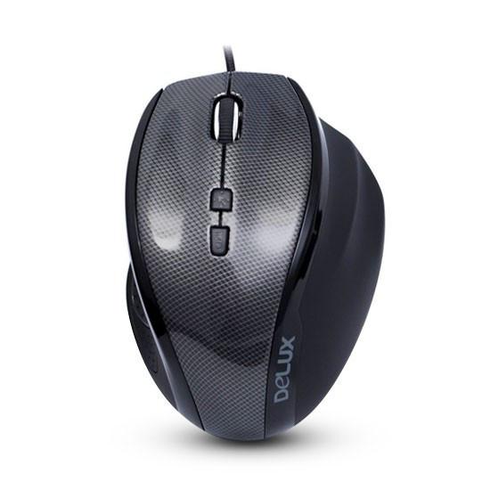 Мышь, Delux, DLM-535OUС, 7D, Оптическая, 1000-1500-2000-3000dpi, USB, Функция возврата курсора в цен