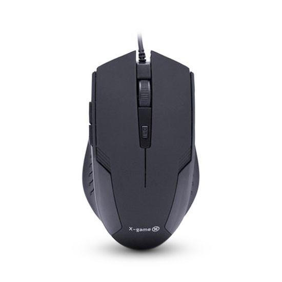 Мышь, X-Game, XM-200OUB, USB, Оптическая, 5D, 800-1600dpi, Проводная, Чёрный