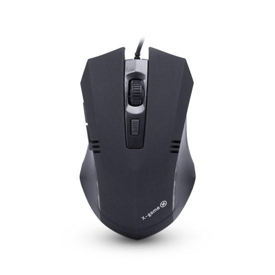 Мышь, X-Game, XM-300OUB, USB, Оптическая, 5D, 800/1200/1600/2400dpi, Проводная, Чёрный