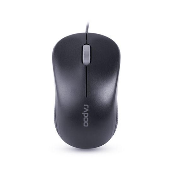 Мышь, Rapoo, N1130, 3D, Оптическая, 1000dpi, USB, Длина кабеля 1,6 метра, Чёрный