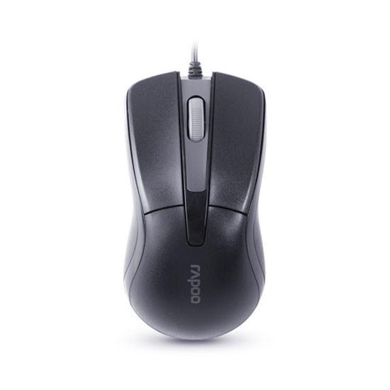 Мышь, Rapoo, N1162 , 3D, Оптическая, 1000dpi, USB, Длина кабеля 1,6 метра, Чёрный