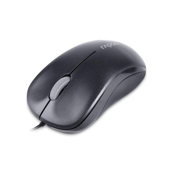 Мышь, Rapoo, N6000, 3D, Оптическая, 1000dpi, USB, Длина кабеля 1,6 метра., Чёрный
