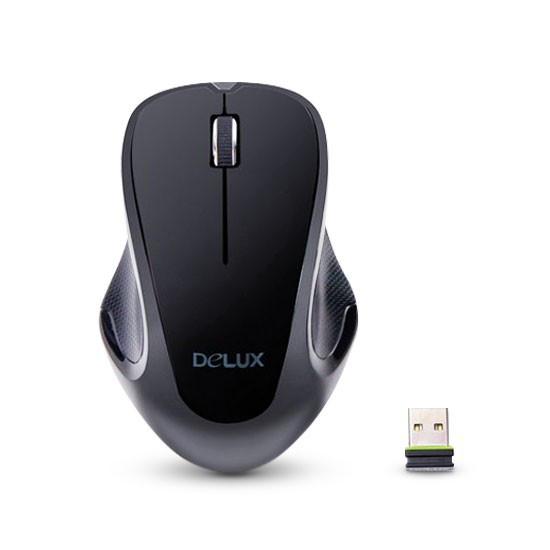 Мышь, Delux, DLM-389OGB, 3D, Оптическая, 1000dpi, Беспроводной 2,4 ГГц, Нано-ресивер, Эффективная ди