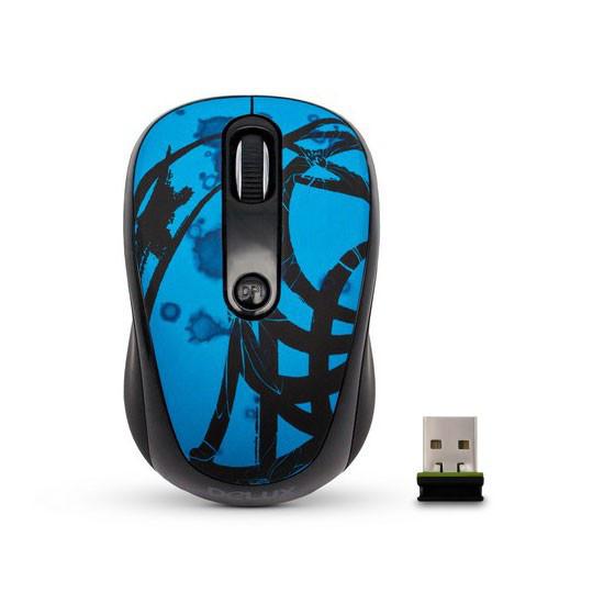 Мышь, Delux, DLM-130OGD,3D, Оптическая, 800-1600dpi, Беспроводная 2.4ГГц, Нано-ресивер, Эффективная