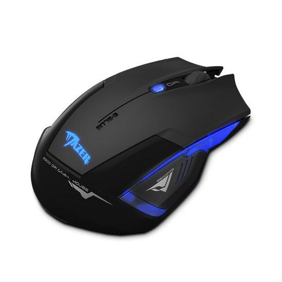 Мышь, E-Blue, Mazer EMS152BK, Оптическая, 500/1200/1800/2500dpi, Беспроводная, Чёрный