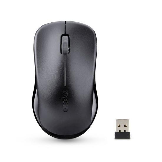 Мышь, Rapoo, 1620-2014, 3D, Оптическая, 1000dpi, Беспроводной 2.4 ГГц, Нано-ресивер, Эффективная дис