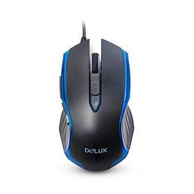 Мышь, Delux, DLM-556OUB, Игровая, Оптическая, 600/1000/1600dpi, Анти-скользящая поверхность, Дополни